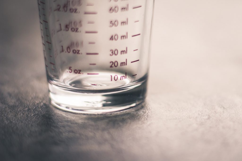 measuring jug in the student home