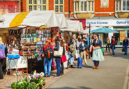 market stalls shopping in cambridge